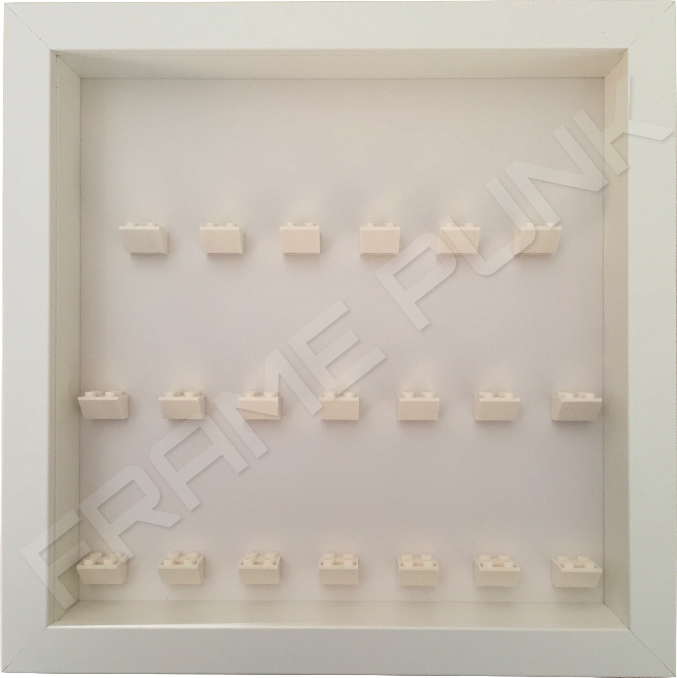 Lego Minifigure Display Frame White Background Frame Punk