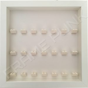 7 7 7 Lego brick frame formation (white)