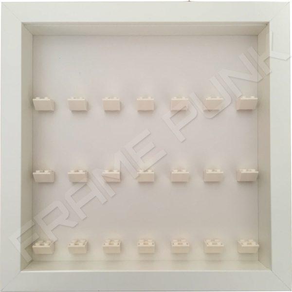 7 7 7 Lego brick frame formation (white)
