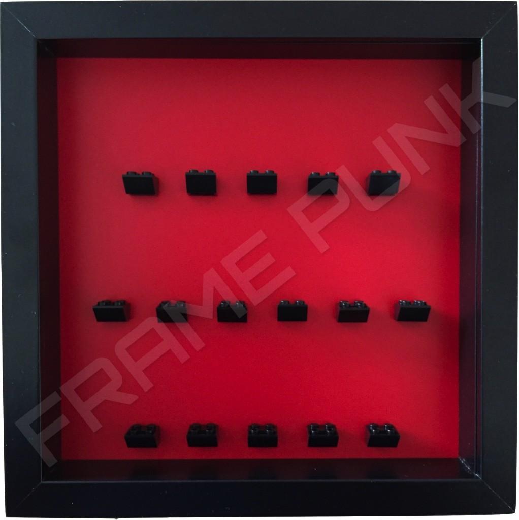 Lego Minifigure Display Frame Red Background Frame Punk