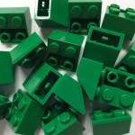 Dark Green Lego mounting bricks