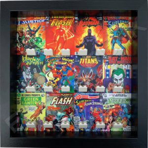 FRAME PUNK DC comic covers display frame for superhero minifigures (black)