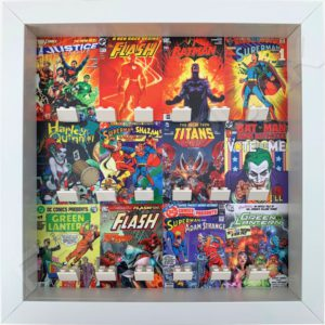 FRAME PUNK DC comic covers display frame for superhero minifigures (white)