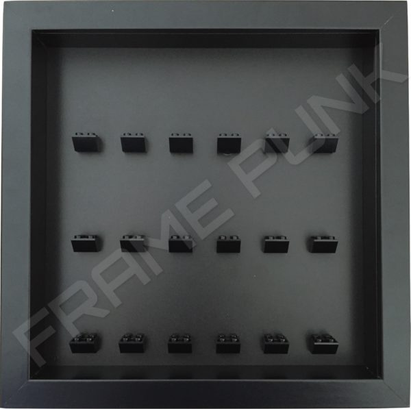 Frame Punk minifigures display frame 18 mounts (All black)