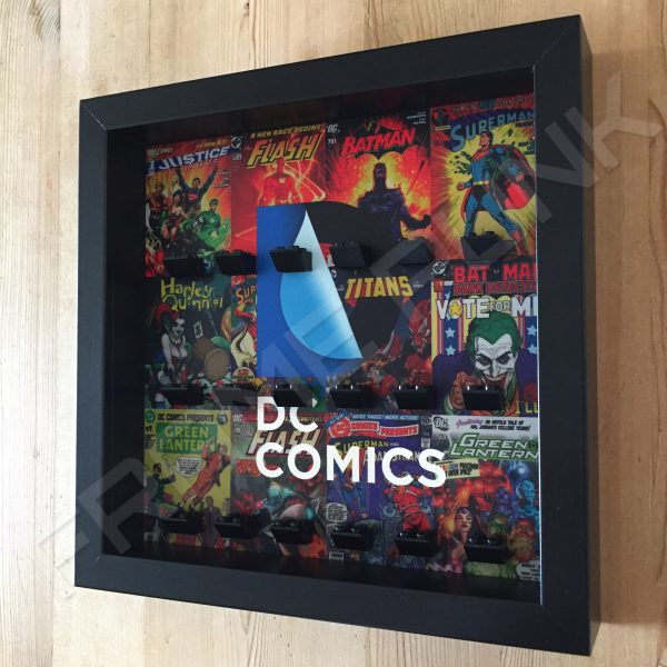LEGO DC Comics minifigure display frame in Black Side View