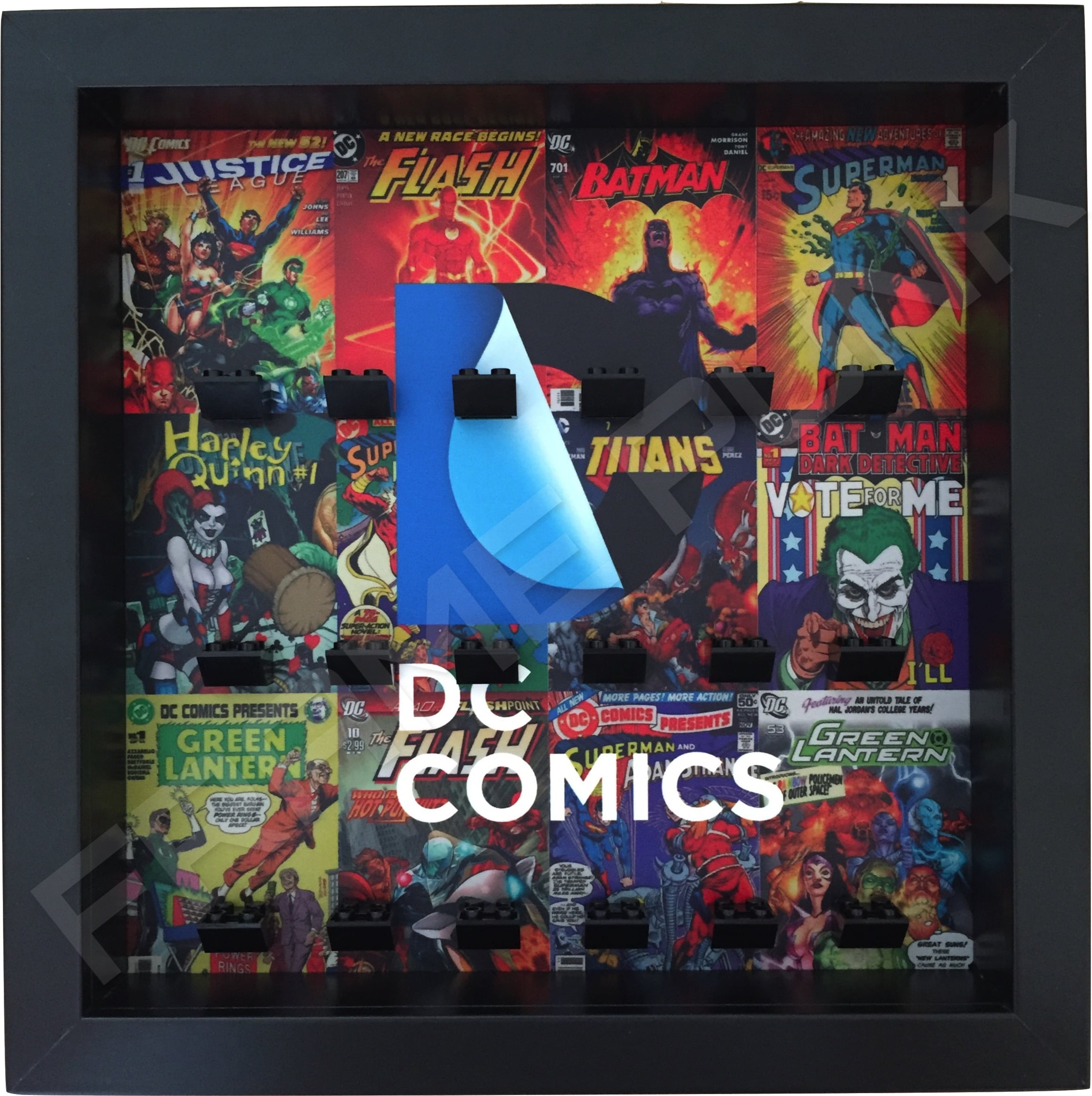 LEGO DC Comics minifigure display frame in Black