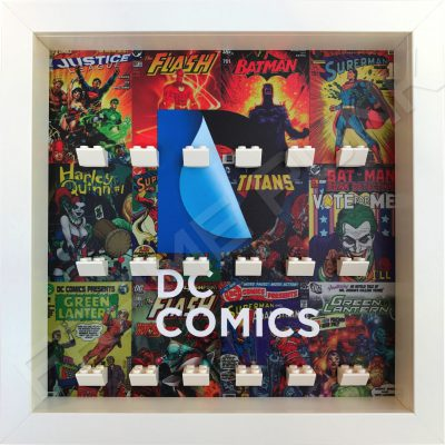 LEGO DC Comics minifigure display frame in White