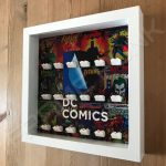 LEGO DC Comics minifigure display frame in White side view