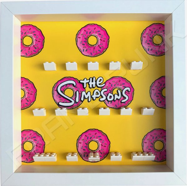 LEGO The Simpsons Minifigures Series 1 & 2 Donuts display frame (white)