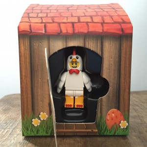 Lego Chicken Man minifigure in his house
