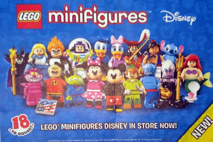 Leaked Lego Minifigure Disney Series box image