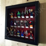 Marvel Black Frame Display With Minifigures Side View