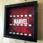 Marvel Black Frame Minifigure Display Side View