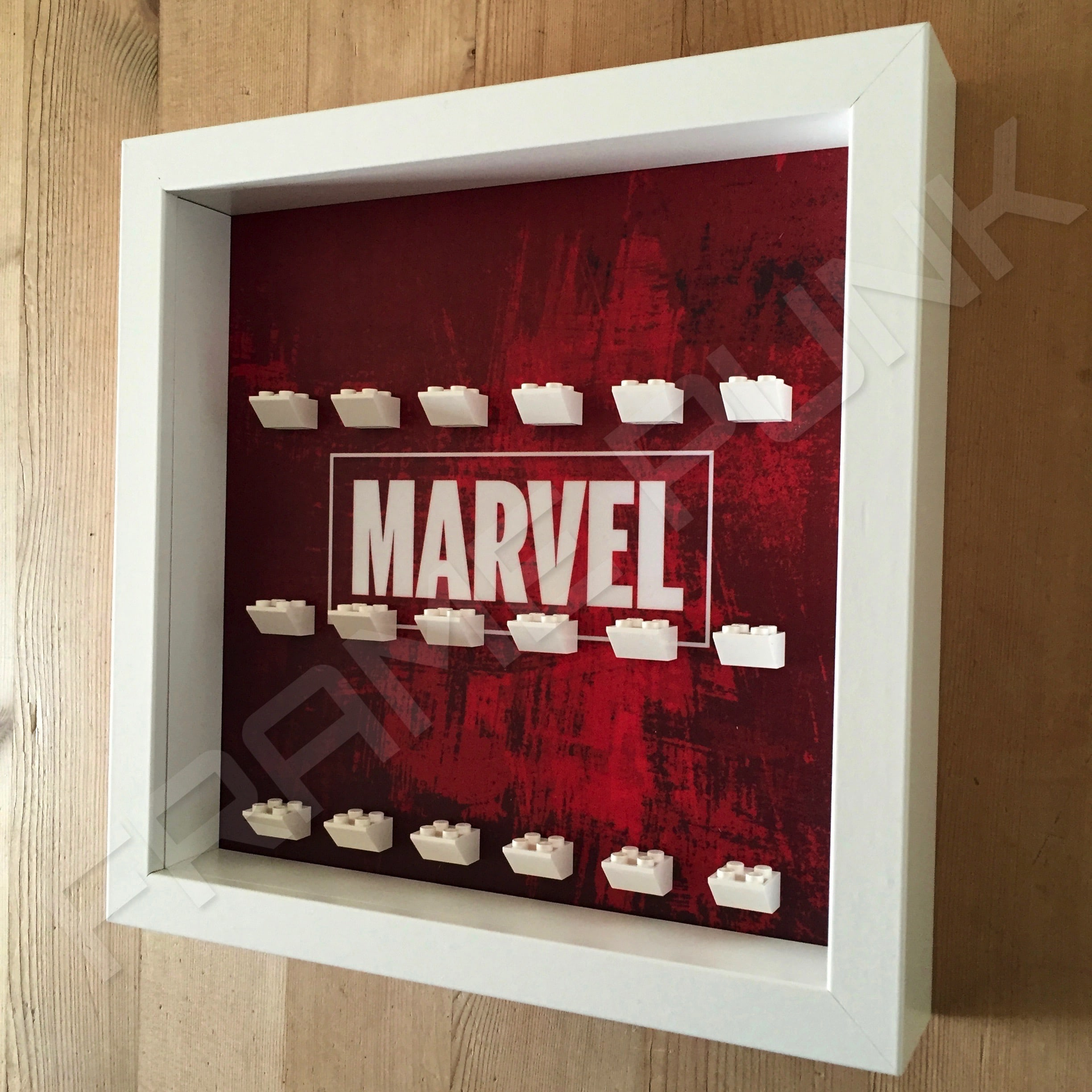 MARVEL Lego Minifigure Display Frame (White) - Frame Punk