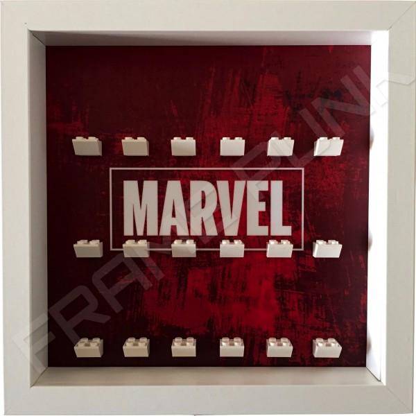 Marvel White Frame Minifigure Display
