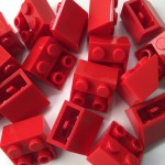 Red Lego mounting bricks