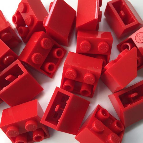 Red Lego mounting bricks