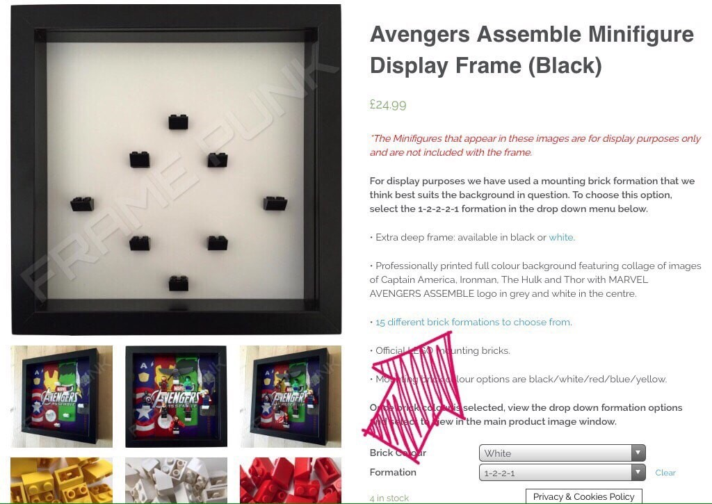 See all the Frame Punk Lego brick mount formations through the link.