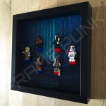 Star Wars - The Force Awakens Black Frame Display With Minifigures Side View