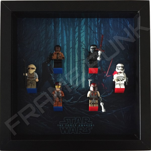 Star Wars - The Force Awakens Black Frame Display With Minifigures