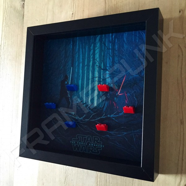 Star Wars - The Force Awakens Black Frame Minifigure Display Side View
