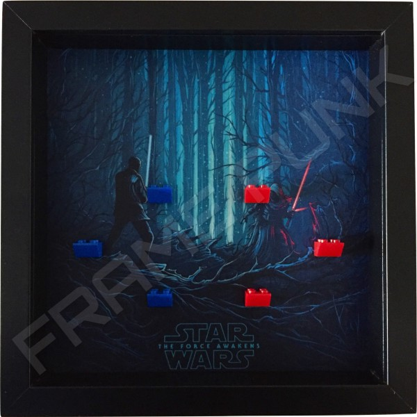 Star Wars - The Force Awakens Black Frame Minifigure Display