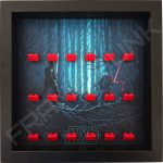 Star Wars - The Force Awakens Red Lego bricks minifigure display frame