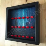 Star Wars - The Force Awakens Red Lego bricks minifigure display frame Side View