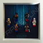 Star Wars - The Force Awakens White Frame Display With Minifigures