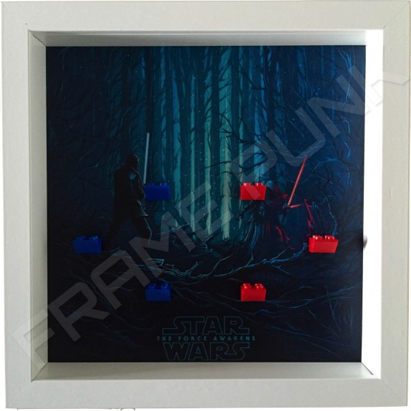 Star Wars - The Force Awakens White Frame Minifigure Display