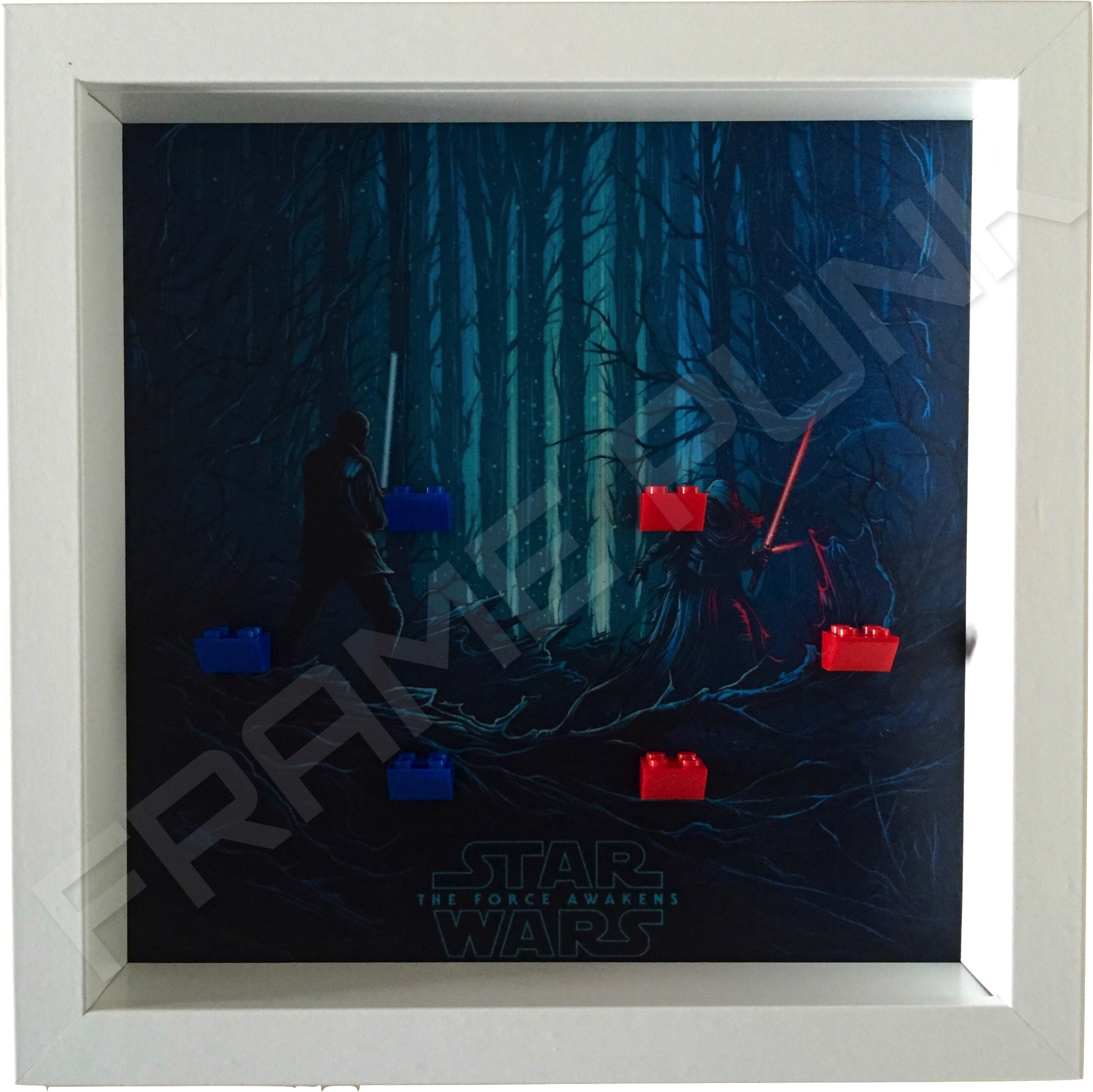Star Wars - The Force Awakens White Frame Minifigure Display