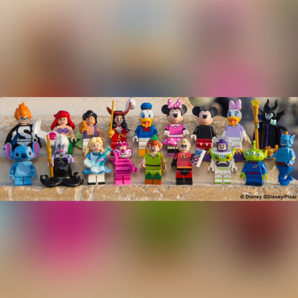The Lego Disney Minifigure lineup Series 1