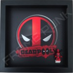 Deadpool Black Frame Display With Deadpool Minifigure