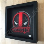 Deadpool Black Frame Minifigure Display Side View