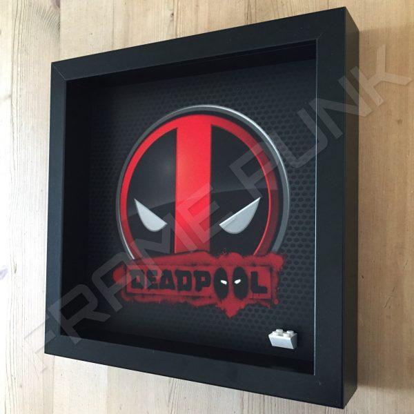 Deadpool Black Frame Minifigure Display Side View