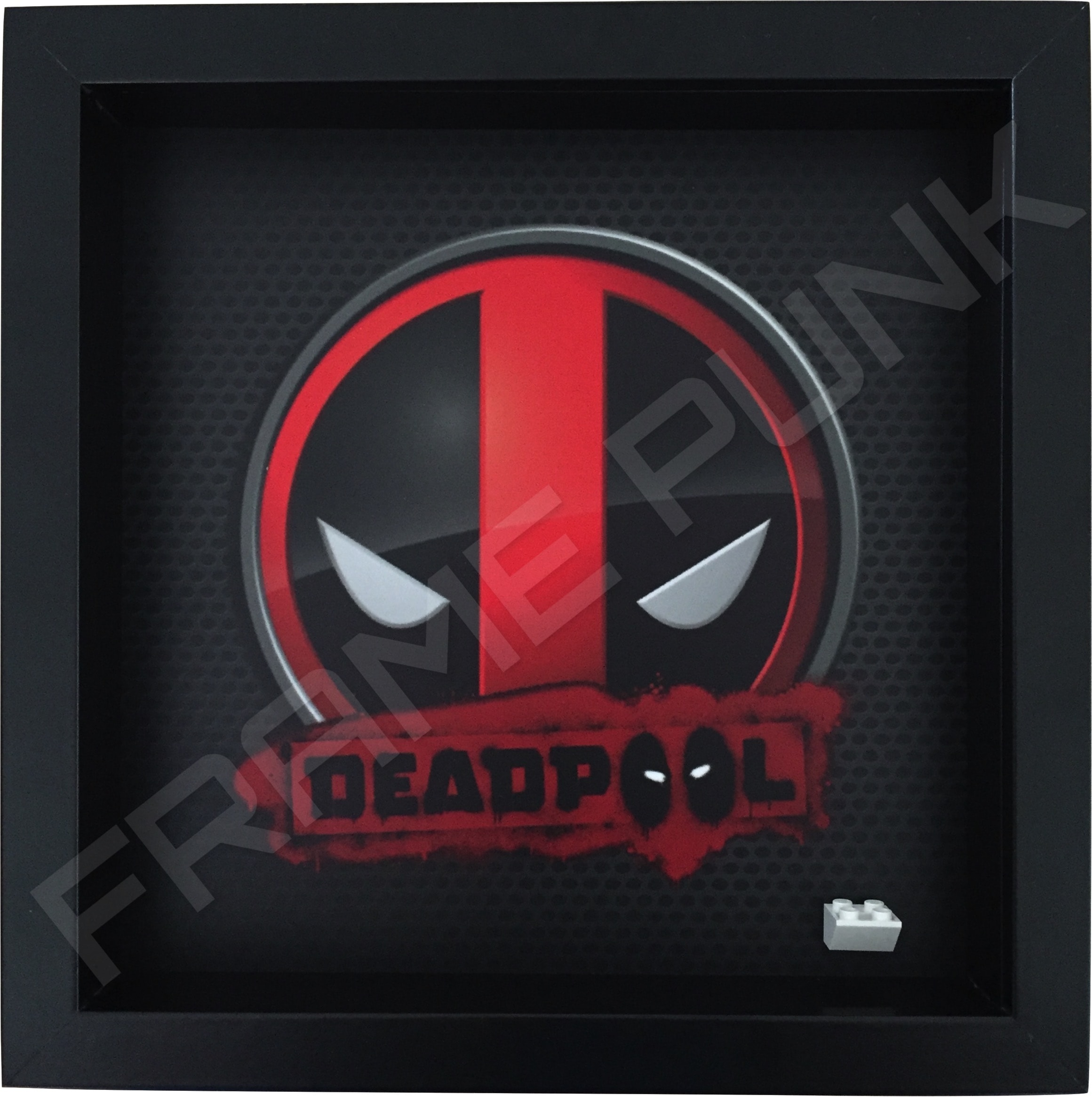 Deadpool Black Frame minifigure display