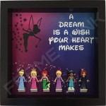 Disney Princess Black Frame Display With Minifigures