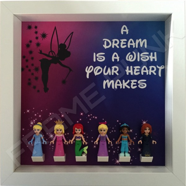Disney Princess White Frame Display With Minifigures