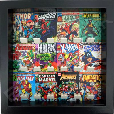 FRAME PUNK Marvel comic covers display frame for superhero minifigures (black)