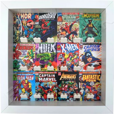 FRAME PUNK Marvel comic covers display frame for superhero minifigures (white)
