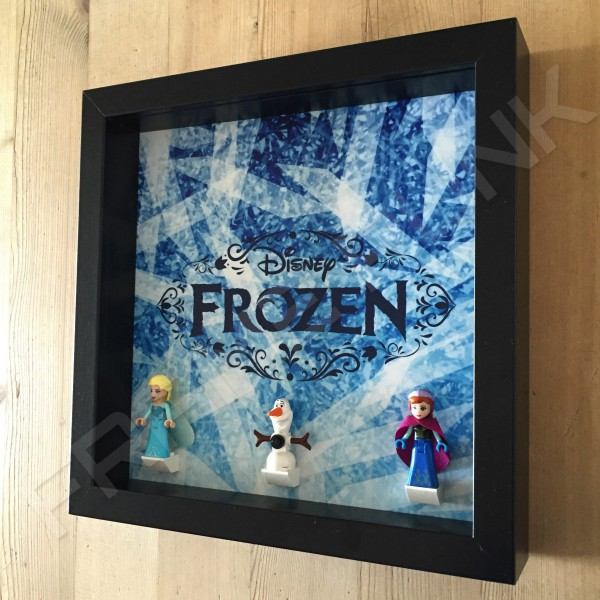 Frozen Black Frame Display With Minifigures Side View