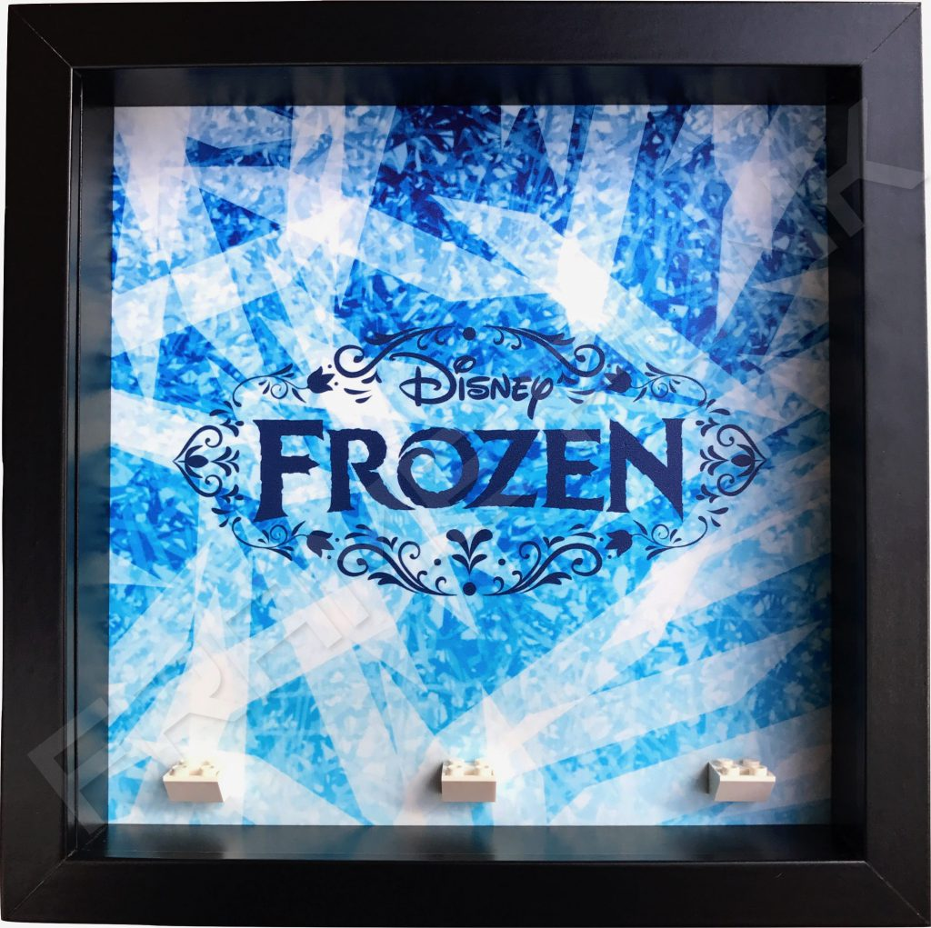 Frozen Lego Minifigure Black Display Frame Frame Punk
