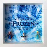 Frozen White Frame Display With Lego Minifigures