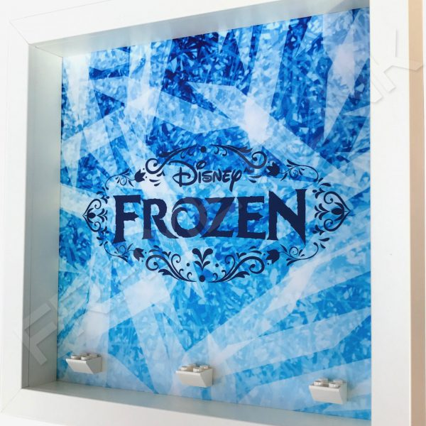 Frozen White Frame Minifigure Display Side View