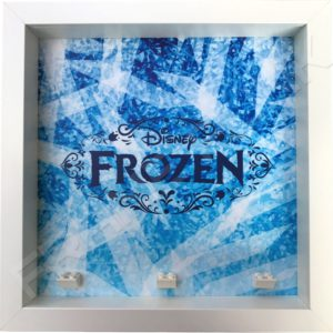 Frozen Lego minifigures display frame (white)