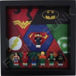 Justice League Black Frame Display With Minifigures