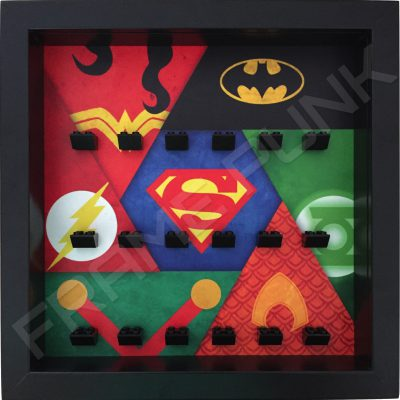 Justice League LEGO Minifigure display frame (Black)