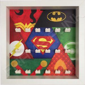 Justice League LEGO Minifigure display frame (White)