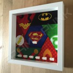 Justice League White Frame Minifigure Display Side View