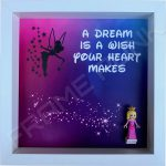 Lego Disney Princess minifigure frame with Aurora minifigure